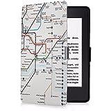 Kindle Paperwhite Hülle, EasyAcc Smartshell Case Kompatibel für Alle Kindle Paperwhite Die dünnste und Leichteste Schutzhülle (für Alle Vorgängermodelle von 2012, 2013, 2014 und Den Neuen Kindle Paperwhite 2015 Mit Sleep / Wake up Funktion - London U-Bahn Plan