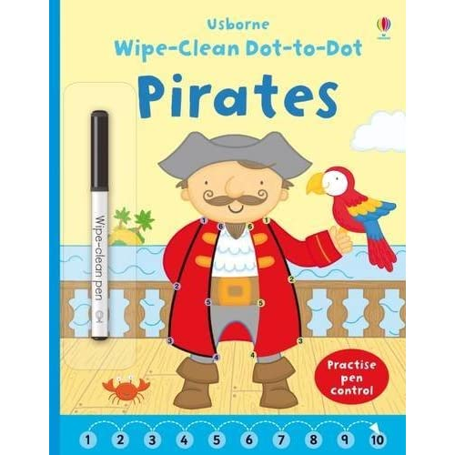 Wipe Clean Dot-to-Dot Pirates by Katrina Fearn (illustrator) Felicity Brooks (author)(2015-09-01)