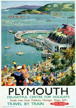 plymouth-vintage-style-travel-poster-masterposter-print-31x41-cm