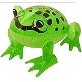 milton bradly 2 ranas hinchables de 39 cm, color verde