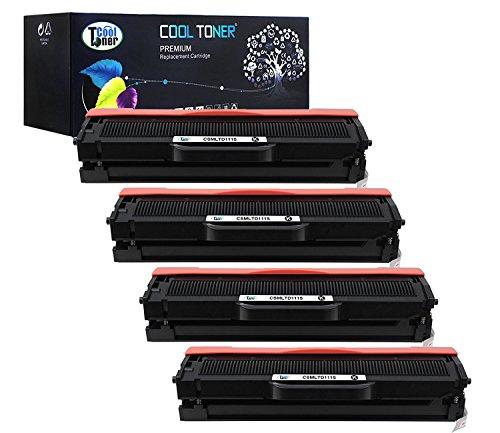 Preisvergleich Produktbild Cool Toner Kompatible Toner für MLT-D111S kompatibel Toner für Samsung Xpress SL-M2020W SL-M2022 SL-M2022W SL-M2070 SL-M2070W SL-M2070F SL-M2070FW, 4 pack, Schwarz, 1.000 Seiten, MLT-D111S