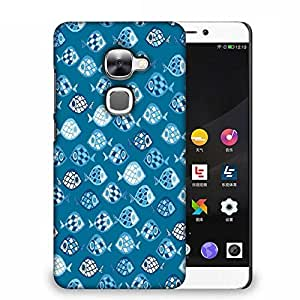 Snoogg Fishes In Blue Pattern Designer Protective Phone Back Case Cover For LETV LE 2S
