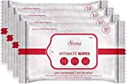 Sirona Intimate Wet Wipes - 10 Wipes, Pack of 4