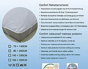 Vaelson Matratzenauflage wasserdicht anti-bakteriell anti-schimmel ÖkoTex100