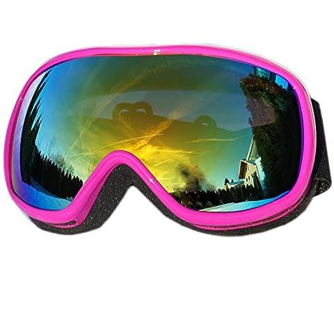 Kinder Skibrille HEEZY® Snowboardbrille Hightech Ski Snowboard Brille Antifog doppelte Scheibe