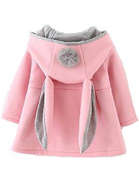 Cystyle Wintermantel Mädchen Babys Jacken Kapuzenjacke Mädchenjacke Kapuzen Kaninchenohren Baby Mantel mit Kapuze