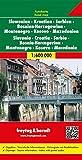 Slowenien - Kroatien - Serbien - Bosnien-Herzegowina - Montenegro - Mazedonien, Autokarte 1:600.000, freytag & berndt Auto + Freizeitkarten: Wegenkaart 1:600 000