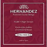 Cordes guitare classique Flamenco rouge tension forte