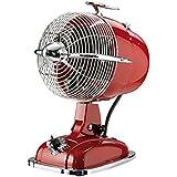 CasaFan Ventilateur de Table Retro Jet Ro, 3niveaux 1350u/min, rouge rubis, 301501