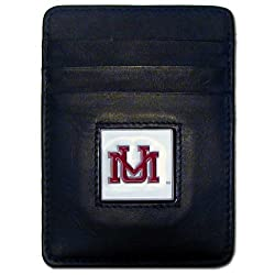 NCAA Montana Grizzlies Leather Money Clip/Cardholder Wallet