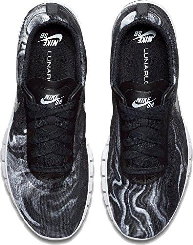 Nike Sb Lunar Paul Rodriguez 9, Scarpe da Skateboard Uomo WHITE/BLACK/WHITE/BLACK