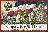 Der Kaiser rief Gott mit Uns 1914 Blechschild Schild Blech Metall Metal Tin Sign 20 x 30 cm