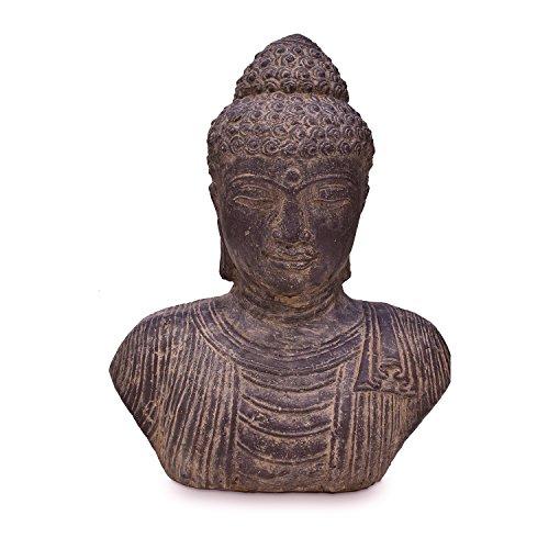 Oriental Galerie Buddha Büste Kopf Head Figur Skulptur Stein Lavasand Bali Garten Deko 40cm