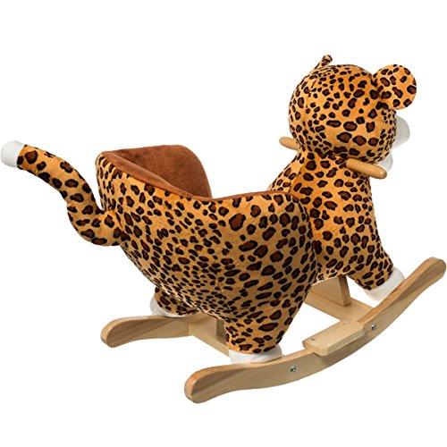 Stimo24 Schaukeltier Dschungel mit Sicherheitsgurt und Kippschutz (Leopard) - 2