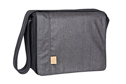Lässig Casual Messenger Bag Wickeltasche/Babytasche inkl. Wickelzubehör Twill black
