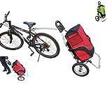 POLIRONESHOP GEKO trolley rimorchio per bici bicicletta carrello carrellino da spesa porta portaspesa portapacchi trasporto cicloturismo x (ROSSO)
