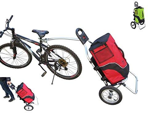 Carro Polironeshop Geko para bicicleta, ideal pra llevar la compra y como portabultos para cicloturismos, rojo