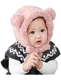 Babybekleidung Hüte & Mützen Longra Niedliche Baby Kleinkind Mädchen Junge Hut Hairball wollene Mütze Cap Winter Warm Hüte(3-8 Monate )