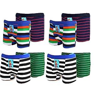 8 Stück Kids Jungen Boxershorts Unterhosen Uni Shorts Boy Unterwäsche Baumwolle 116 bis 164