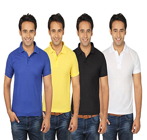 Quetzal Multicolor Cotton Polo T Shirt Pack Of 4