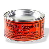 Stabilo-Sanitaer Kesselkitt feuerfest Froschmarke 250g Dose, nicht schwindender feuerfester Dichtungskitt auf Wasserglas-Basis, Kaminkitt rauch- und gasabdichtend