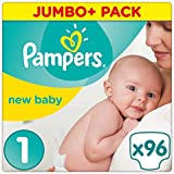 Couches Pampers New Baby, taille 1, 2 à 5 kg, Lot de 96