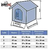 Hundehütte HOBBYDOG, Größe 2, 44x38cm, aushaltbares Codurastoff, waschbar bei 30 ° C, Beständigkeit gegen Kratzer, EU-Produkt - 6
