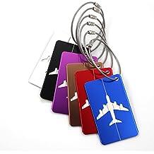 Almondcy-Etiquetas del equipaje del viaje de aleación de aluminio,6 piezas con diferentes colores del bolso del equipaje de la maleta