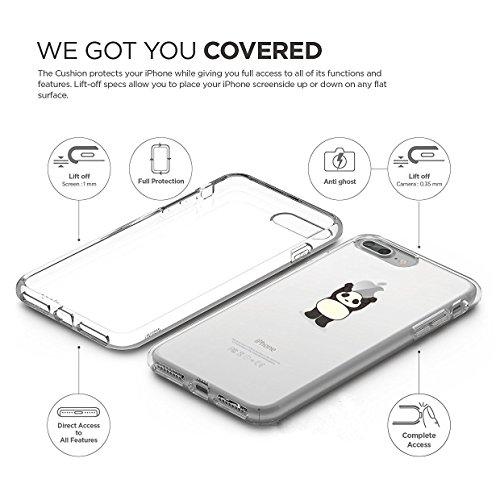 iPhone 7 Plus Custodia Simpatico panda Lamore elefante i Phone 7 Plus Case Transparente Silicone Cover Pacyer® TPU Gel Protettivo Skin Shell Per apple iPhone 7 Plus 5.5 7