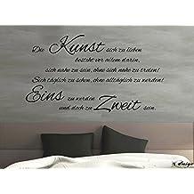 Wandtattoo-Wandaufkleber-Wandsticker ***Die Kunst sich zu lieben,...*** (Größen und Farbauswahl)