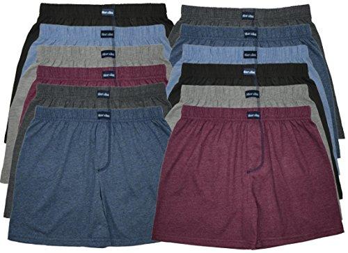 MioRalini TOPANGEBOT Boxershorts farbig weich & locker in neutralen Farben klassischen Unifarben Herren Boxershort, 12 Stück Ohne Eingriff 01, XXXL-9