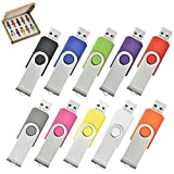 AreTop 10pcs 1GB USB Flash Drive Memory High Speed USB 2.0 in Gift Box (10 Mixed Colors)