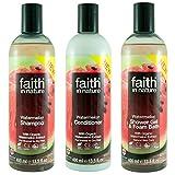 Faith In Nature Wassermelone Shampoo, Haarspülung & Duschgel Trio