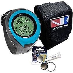 Mares Puck Pro Sparset - Sac de transport avec batterie et graisse en silicone, bleu clair