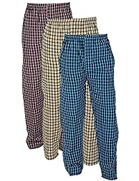 0e0a6c091 Worivo Men's Multi Color Check Printed Pyjamas for Gym,Running,Night Wear ,Casual
