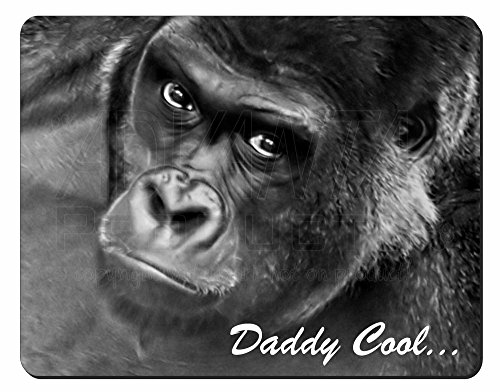 Advanta - Mousemats Gorilla Daddy Cool Fathers Day Dad Gift Computer Mouse Mat Christmas Gift Idea