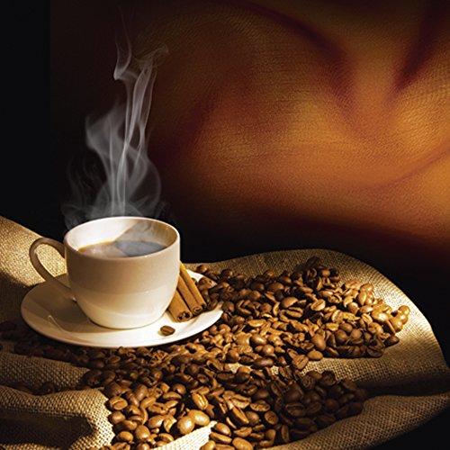 Artland Qualitätsbilder I Glasbilder Deko Glas Bilder 40 x 40 cm Ernährung Genuss Getränke Kaffee...