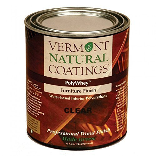 Vermont Natural Coatings Poly Whey Furniture Finish, Clear Satin Finish, 1 Quart by Vermont Natural Coatings