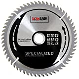 Saxton - Disco circular de TCT de corte fino para sierra radial inalámbrica de 165 mm y 60 dientes