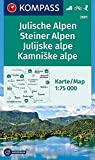 Julische Alpen/Julijske alpe, Steiner Alpen/Kamniske alpe: Wanderkarte mit Radrouten und Skitouren. GPS-genau. 1:75000 (KOMPASS-Wanderkarten, Band 2801)