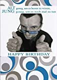 A4 Geburtstagskarte witzig Alt genug, um es besser zu wissen, jung genug, um