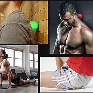 Unitedheart Massageball, 65mm Massage Ball Myofasziale Triggerpunkt Körper Übung Sport Yoga Fitness Ball Muskel Entspannen Entlasten Müdigkeit Rollerball