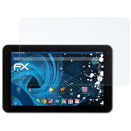atFolix Schutzfolie kompatibel mit Xoro TelePad 9A1 Pro Panzerfolie, ultraklare & stoßdämpfende FX Folie (2X)