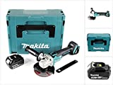 Makita DGA 504 F1J 18 V 125 mm brushless Akku Winkelschleifer im MAKPAC inkl. 1x BL 1830 Akku - ohne Ladegerät