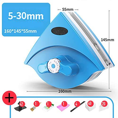Magnetische Fensterreiniger Doppelseitiger Einstellbare Magnetic Magnet Fensterputzer Glaswischer für Fenster Glastür Reinigung, 5-40mm -