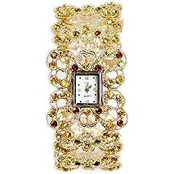 Frau, Quarzuhr, Armband, Mode, Freizeit, Persönlichkeit, Metall, W0335