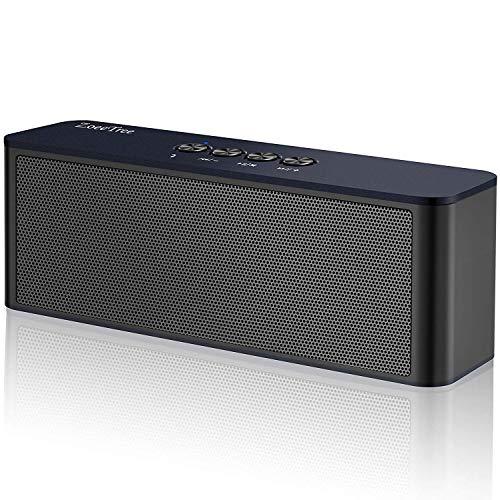 ZoeeTree S5 - Altavoz Bluetooth Portatil, Altavoces Estéreo Inalámbricos, Sonido HD de 10W, Graves mejorados, Bluetooth 4.2, Llamadas Manos Libres, 3,5mm AUX/Tarjetas TF(Azul Oscuro)