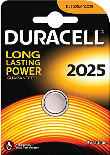 Duracell DL2025 - Blister 1 Pila Boton 3V-165 Mah-Dl.2025