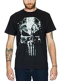 Camiseta de el Castigador calavera by Elbenwald, algodón), color negro, hombre, negro, extra-large