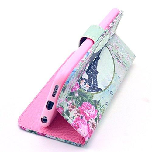 """MOONCASE iPhone 6 Plus Case Motif Conception Coque en Cuir Portefeuille Housse de Protection Étui à rabat Case pour iPhone 6 Plus (5.5"""") P31"""